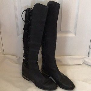 Vince Camuto Boots. Lace up in the back, side zip.